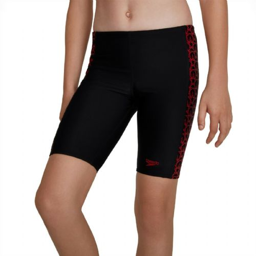 SPEEDO BOYS JAMMERS.NEW BOOMSTAR SPLICE BLACK RED ENDURANCE SWIM SHORTS TRUNKS